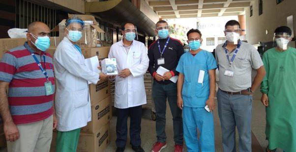 नेपाल चेम्बर अफ कमर्सद्वारा काठमाडौंका विभिन्न अस्पताललाई अत्यावश्यक स्वास्थ्य सामग्री वितरण